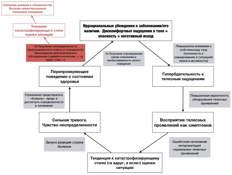 Когнитивно-поведенческая модель тревоги о здоровье у урологического пациента